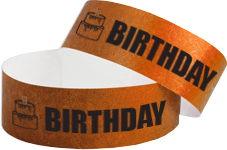 birthday wristbands, Cheap wristbands, Tyvek wristbands, paper wristbands